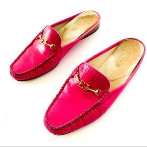 Escada Pink Loafer Handsewn Moccassins 7.5
